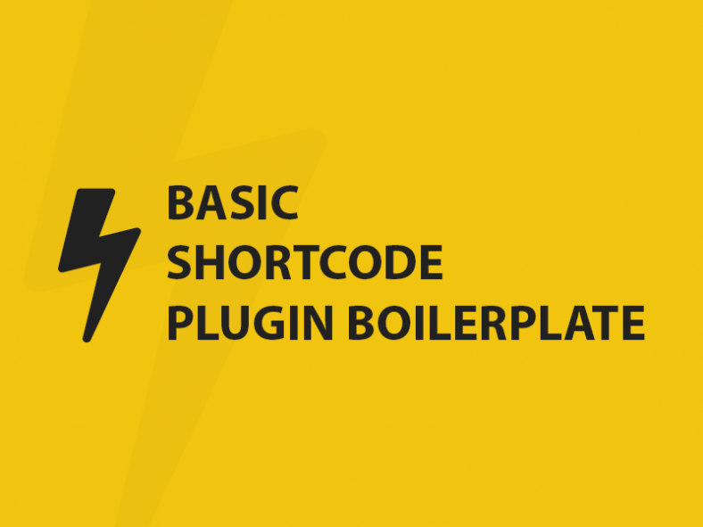 Basic-Shortcode-WordPress-Plugin-Boilerplate