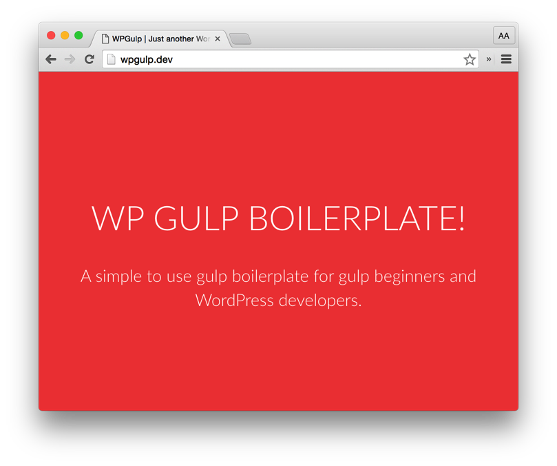 WP Gulp Boilerplate