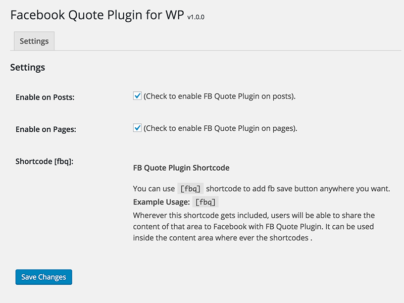 FB Quotes Pllugin wp featuresscreenshot-2