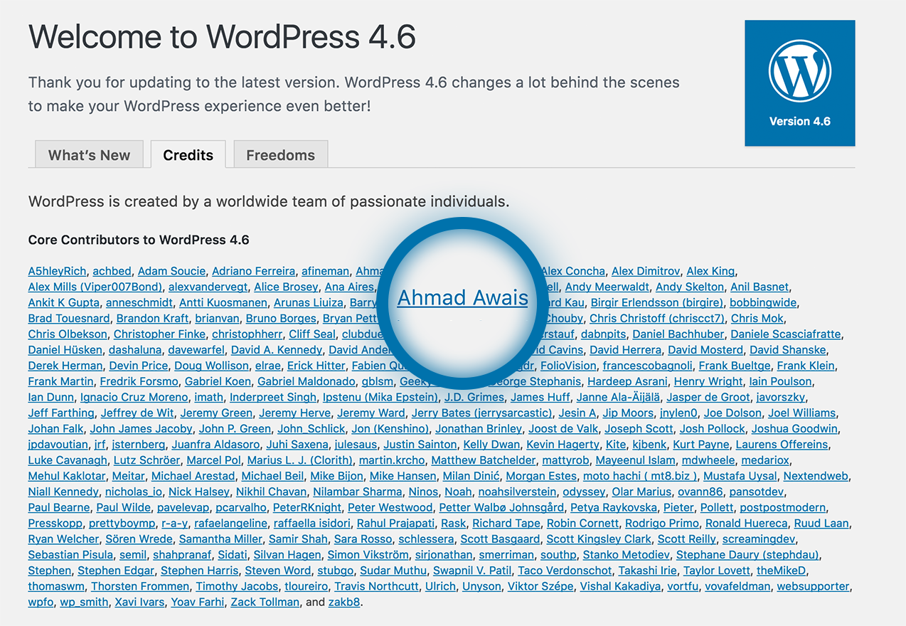 WordPress-4.6-Ahmad-Awais-Core-Contributor
