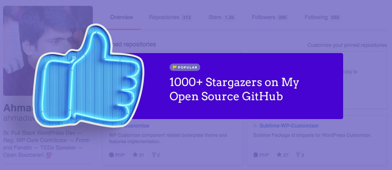 🎉 1000+ Stargazers on My Open Source GitHub Repositories