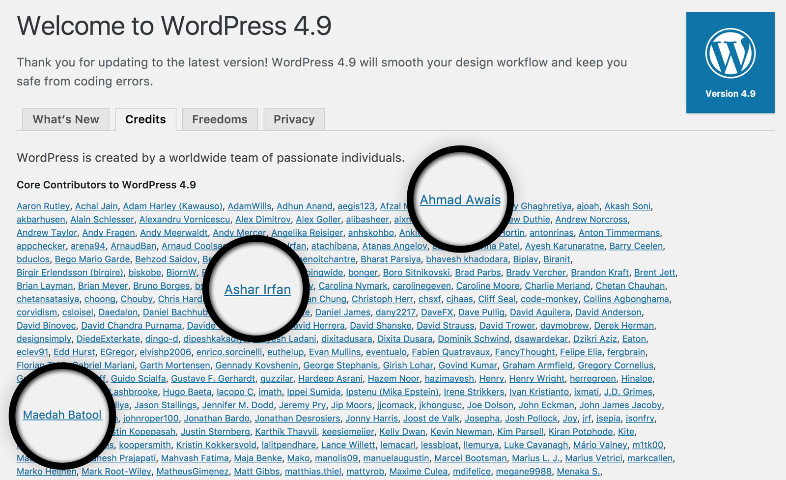 WordPress4.9-Core-Contributors-WPCouple-Ahmad-Awais-Maedah-Batool-Ashar-Irfan-large