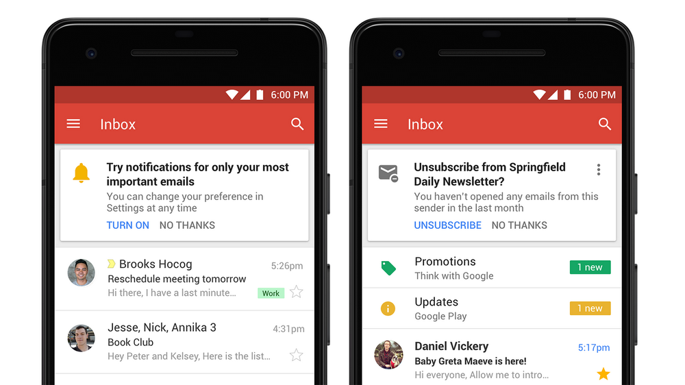 Gmail only high-priority notification