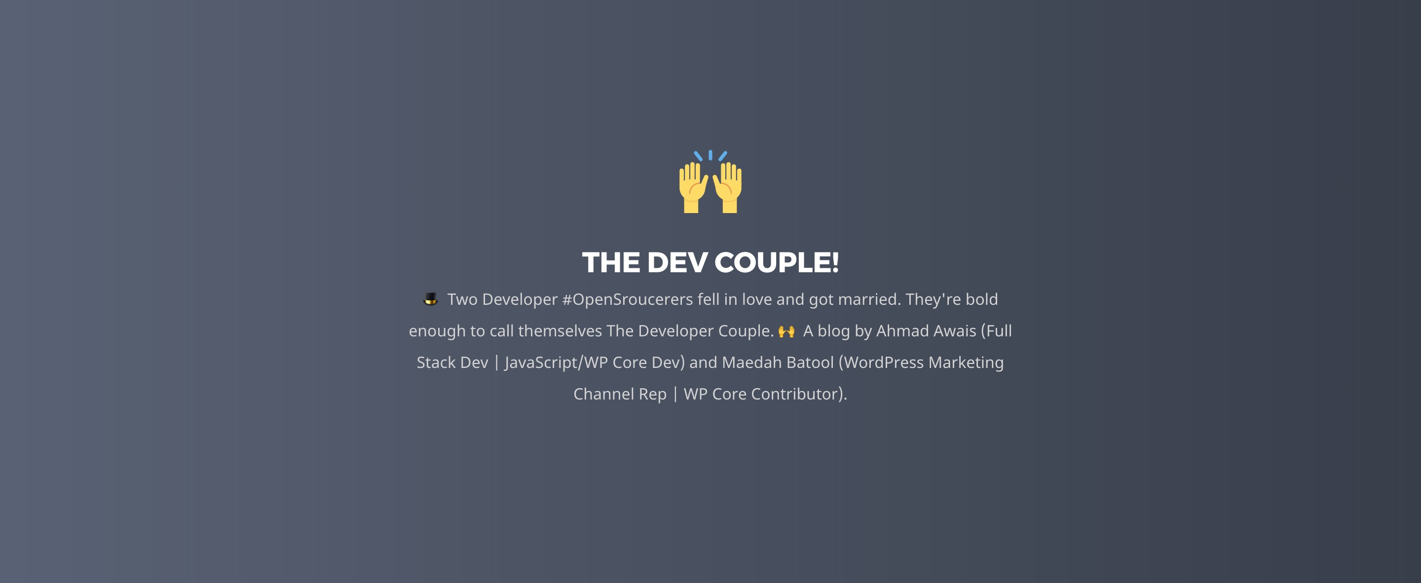 Thedevcouple