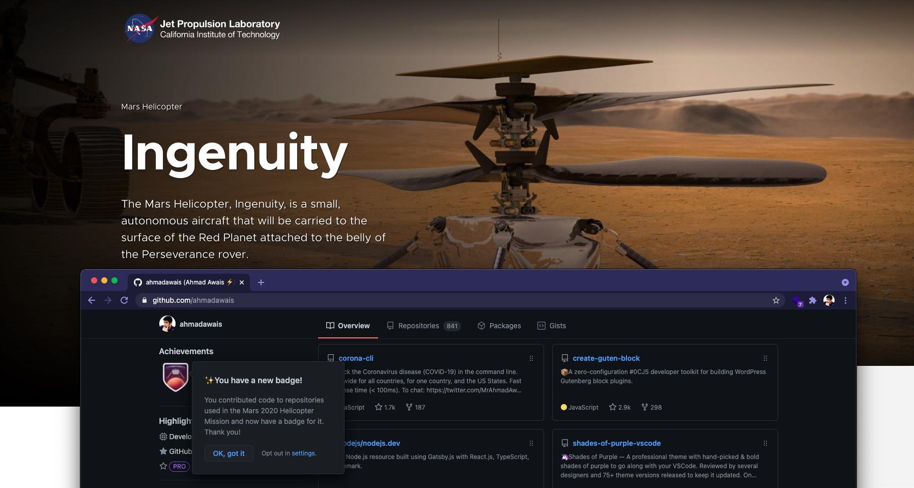Ahmad Awais Mars Ingenuity Open Source